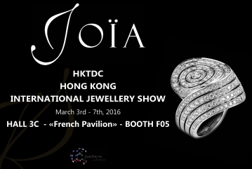 HKTDC HONG KONG INTERNATIONAL JEWELLERY SHOW: MARCH 3rd - 7th, 2016